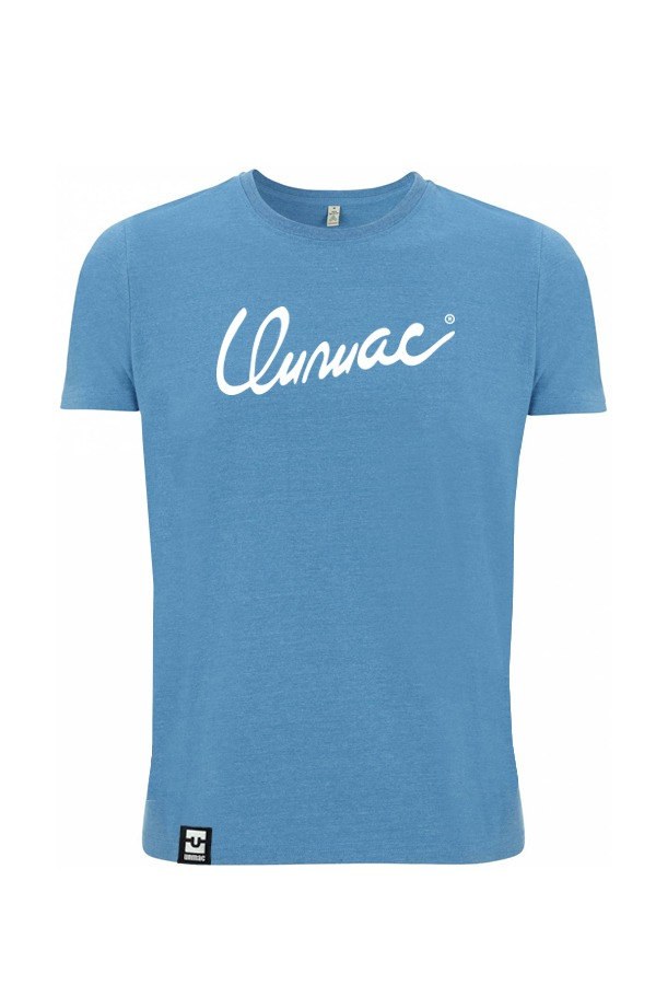 font Shirt blau